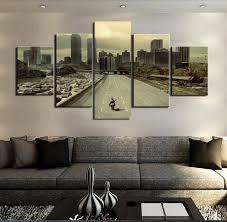 the walking dead 5 panel hd canvas wall art decor