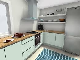 roomsketcher cool mint green kitchen