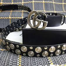 leather belt replica with gold plated stainless steel double g buckle 524093 cveuy 1000 skip to the end of the images gallery