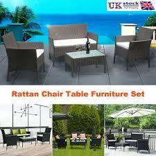 4 seater rattan furniture set garden