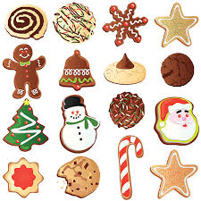 christmas sugar cookie clip art. Fine Art Cute Christmas Cookies Vector Art Illustration And Sugar Cookie Clip Art