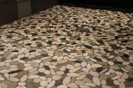 pebble floor tiles