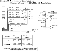 lce series indicators and lighting wiring diagram Patlite Wiring-Diagram LME at Patlite Wiring Diagram