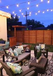 Patio Outdoor Lights With Rattan Furniture