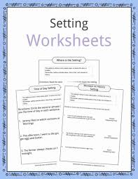 Story Setting Examples Definition Worksheets For Kids