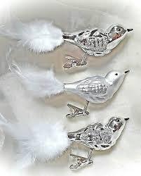 Christbaumschmuck Vögel Rot 3er Weihnachten Baumschmuck