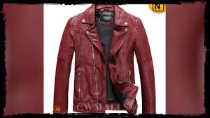 men s washed leather moto jacket cw816103 jackets cwmalls com