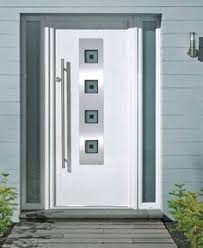 white front door4 Square Glazed Composite Front Door in Chartwell Green http