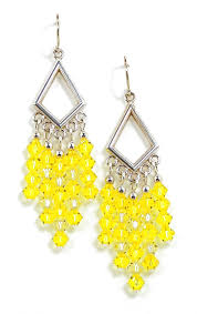 03 04 965 yellow crystal chandelier earrings