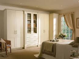 Bedroom Fitted Bedrooms Wardrobe Wooden White Carpet Window Curtain