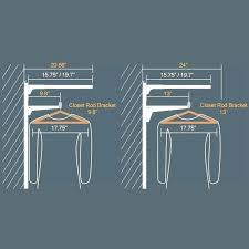 Standard Closet Rod Height Adorable Interior Closet Rod Height Closet Pole Height Standard Rod