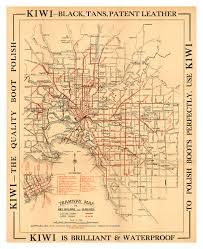 Check out our melbourne map selection for the very best in unique or custom, handmade pieces from our wall décor shops. Melbourne Tramway Map Print Modern