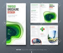 Tri Fold Brochure Online Design Business Tri Fold Brochure Design Blue Green Corporate Business