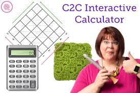 C2c Interactive Crochet Calculators Goodknit Kisses