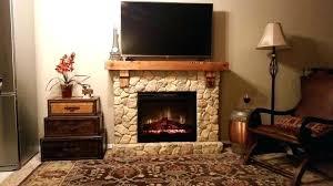 dimplex fieldstone rustic electric fireplace mantels
