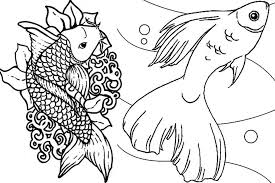 Small Picture Fish Coloring Pages Print Interesting Free Printable Swimming