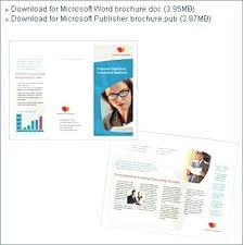Ms Office Brochure Template Free Download Publisher Templates