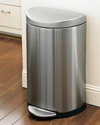 full size of interior simplehuman stainless steel semi round step trash can o winsome 13 large size of interior simplehuman stainless steel semi round step