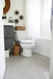 marble penny tile floor will be gorgeous for any neutral or serene bathroom