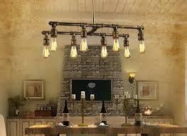 industrial style lighting fixtures. Industrial Look Lighting Fixtures Loft 8 Light Style Bar Counter