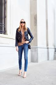 blanknyc easy rider black leather jacket camel cashmere sweater m i h jeans chloe faye