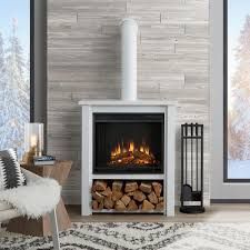 bold inspiration free standing electric fireplaces celeste freestanding stove in cream tds8515tc dimplex