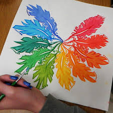 Color Wheel Design Project Acrylic Paint Color Wheel High School Art Painting
