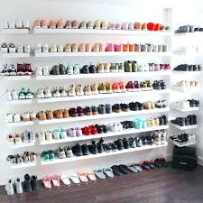 wall shelf for shoes wall shelf for shoes my sneaker wall for my closet wall hung wall shelf for shoes