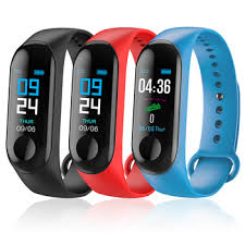 <b>M3</b> Smartwatch Ip65 <b>Waterproof</b> Smart Band Sport Heart Rate ...