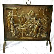 brass fireplace screen large handmade brass fireplace screen with allegory depiction century brass fireplace screen and brass fireplace screen