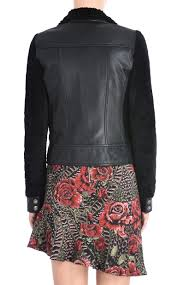 just cavalli leather jacket with diagonal zipper jacket woman d