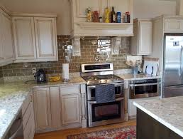 Kitchen Backsplash White Cabinets New Antique White Kitchen Delectable White Cabinets And Backsplash Collection