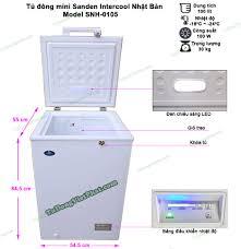 Tủ đông mini Sanden Intercool SNH-0105 100 lít - Giá rẻ nhất T11/2020