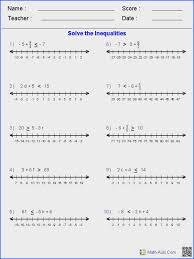 equation and inequalities worksheets algebra 2 worksheets