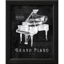 black print grand piano framed art print wall art by eric yang on grand piano wall art with black print grand piano framed art print wall art by eric yang