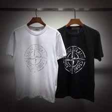 Designer Brand With Compass Logo 2019 Stone Islands Designer Luxury Mens T Shirt Tide Brand High Quality T Shirt Classic Compass Print Pattern Breathable Round Neck Tshirts From