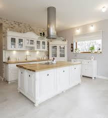 Antique White Kitchen Island With Butcher Block Top white kitchen