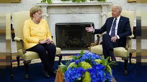Joe Biden bids Angela Merkel farewell ...