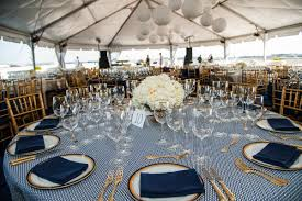Blue And Gold Table Setting Wedding Trends Gold Flatware At Reception Table Settings Inside