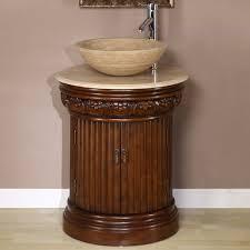 Single Vessel Sink Bathroom Vanity 24 Inch Modern Single Sink Bathroom Vanity With Clear Glass Vessel