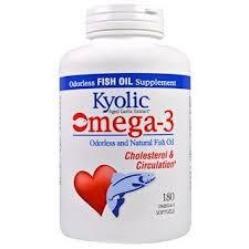 Kyolic, <b>Omega</b> - <b>3</b>, <b>Odorless and Natural</b> Fish Oil, 180 Omega-3 ...