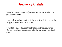 introduction to modern cryptography principles and protocols  frequency analysis in english or any language certain letters are used more often than