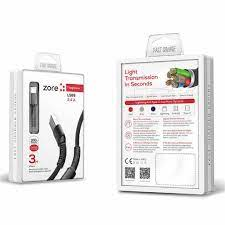 Şarj Kablosu - Zore Toughness Micro 3 Metre Şarj Kablosu - Micro LS65 Şarj  Kablosu
