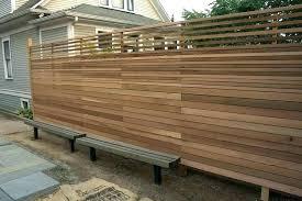 horizontal wood fence. Perfect Fence Horizontal Fence Panels Wood Modern On