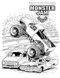 Monster Truck Coloring Pages Printable Monster Jam Coloring Pages