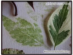 hammered leaf flower print