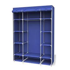 navy storage closet portable wardrobe with shelf