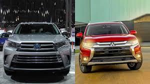 2017 Toyota Highlander vs 2016 Mitsubishi Outlander - YouTube