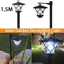 height 1 5m led solar lawn lamp outdoor light landscape garden lamp solar powered light led