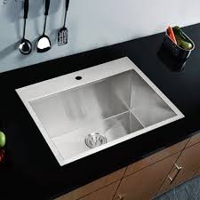 Water Creation Sss Ts 2522a Single Basin Drop In Kitchen Sink